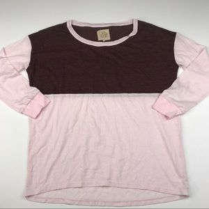 Chaser Soft Pink Long Sleeved T-shirt Tee Top NWT